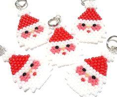 Cute Santa Claus Brick Stitch Pendant / Charm by BeadCrumbs
