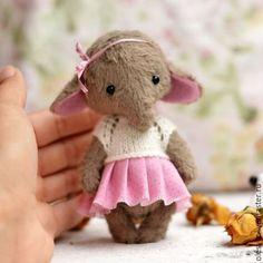 Мишки Тедди ручной работы. Ярмарка Мастеров - ручная работа. Купить Друзья тедди.Слоник Дуняша. Handmade. Темно-серый