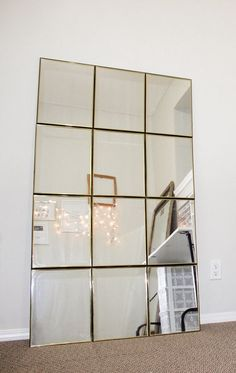 Grab Dollar Store mirrors and duct tape for this high-end decor diy mirror – DIY Dollar Store Hacks, Dollar Stores, Dollar Dollar, Cheap Home Decor, Diy Home Decor, At Home Decor Store, Diy Home Gym, Dollar Store Mirror, Dollar Tree Mirrors