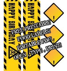 construction-party printables