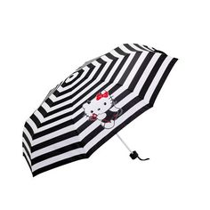 BRAND NEW GIRLS LADIES OFFICIAL HELLO KITTY UMBRELLA BLACK WHITE  | eBay £8.99