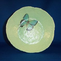 Papier Mache Butterfly Bowl Cooling Wings by LiteratePackrat, $19.00