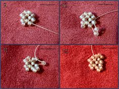 art, crafts and beads: Sea Star Beading Tutorial Bead Loom Patterns, Jewelry Patterns, Beading Patterns, Beaded Starfish, Starfish Earrings, Seed Bead Jewelry, Seed Beads, Beaded Jewelry, Beaded Bead