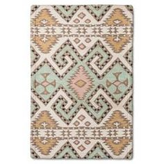 Bring texture and pattern to the floor with the help of this Mohave Area Rug from Threshold. Made of polyester, this rug will give your feet a plush surface to relax on. Complement your floorings with this on-trend tribal design that is covered with soft shades that match many styles. Made of woven polyester, you can place this in your living room or backyard, as it is easy to clean and maintain.