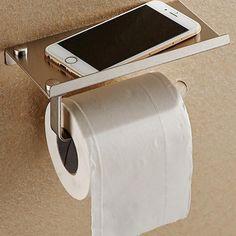 Stainless Steel Bathroom Mobile Phones Toilet Paper Holder