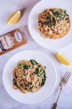 Spaghetti z tuńczykiem, cytryną i rukolą - Poezja smaku Spaghetti, Food Design, Ethnic Recipes, Noodle