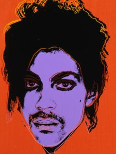 Andy Warhol, print of Prince Blow Job (1964) in purple, reddish orange and black ink using the print method Silkscreen.