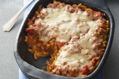 Love lasagna but don& have time to start from scratch? This quick lasagna casserole uses KRAFT DINNER Macaroni and Cheese and the microwave to get things moving. Lasagne Recipes, Easy Lasagna Recipe, Beef Recipes, Cooking Recipes, What's Cooking, Pasta Recipes, Italian Recipes, Kraft Dinner, Al Dente