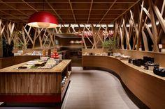 店舗デザインの作品アーガイブ / デザイナーズショーケース -   星野リゾート 青森りんごキッチン / Hoshino Resorts  AOMORI APPLE KITCHEN
