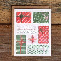 Holiday Presents by 1canoe2 on Etsy, $4.50