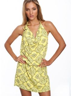Let the sun shine in! If you get excited when summer is around the corner, be ready to look radiant and get beautiful clothes and accessories. This yellow beach dress is comfortable and pretty casual, so you can enjoy it almost everywhere.