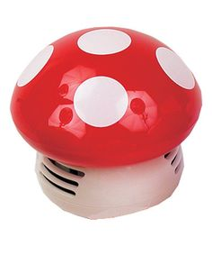 Starfrit Red Mushroom Table Vacuum by Starfrit - this little guy sucks up any wayward crumbs on your kitchen table, what a cute and genius idea!