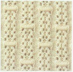 Lace Knitting Stitch #25 | Lace Knitting Stitches