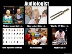 """what audiologists """"really"""" do... (untangle cords) hehe dr krishnan is forever complaining about this"""