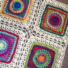 celtic lace join granny squares