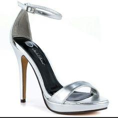 Silver 4in heels Silver 4in. Heels new...never be worn Michael Antonio Shoes Heels