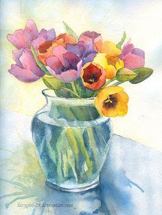 Colourful tulips by lazygirl-29.deviantart.com on @deviantART