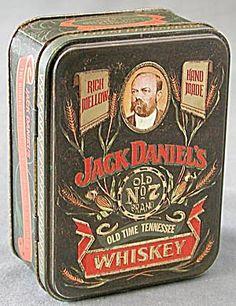Jack Daniel's General Store | Jack Daniel's Tin Can w/2 Glass Mini Bottles (Image1)