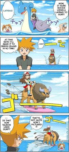 What ?! Lol can Tauros actually use surf ???