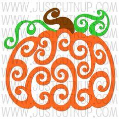 Swirled Pumpkin SVG