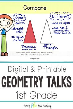 These first grade geometry number talk activities are common core aligned and are perfect for helping your elementary students think critically about shapes. They are very effective, highly engaging, and remarkably easy to implement. Check them out today! First Grade Games, First Grade Lessons, Teaching First Grade, First Grade Math, Math Lessons, Math Fact Practice, Math Talk, Math Fact Fluency, Fluency Games