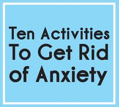 List of things you can do for yourself to help with your anxiety overall.