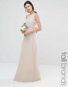 TFNC Tall Wedding Sateen Bow Back Maxi Dress $76