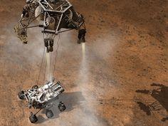 NASA - Curiosity Touching Down, Artist's Concept