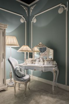 Precious details and delicate colours for the feminine bedroom by SAVIO FIRMINO…