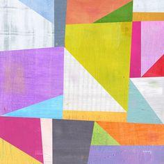 Abstract Geometric Print. $23.00, via Etsy.