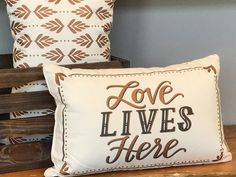 Love Lives Here Pillow