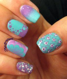 Teal and Purple #nailart #nails