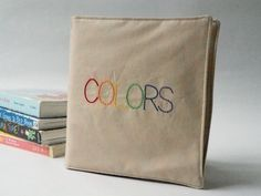 Cloth Book of Colors - Perfect Soft Fabric Book for Baby or Toddler - Educational Toy - Gift for Baby by ChooChooWhites on Etsy https://www.etsy.com/listing/240700649/cloth-book-of-colors-perfect-soft-fabric