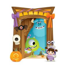 "Jerrod Maruyama on Instagram: ""Happy Halfway To Halloween! From the @disneybaby book MY FIRST HALLOWEEN!  #halfway2halloween #halloween #disneybaby #pixar #monstersinc…"" Disney Pixar, Arte Disney, Disney Cartoons, Baby Disney, Disney Love, Disney Princess, My First Halloween, Disney Halloween, Monsters Inc Boo"