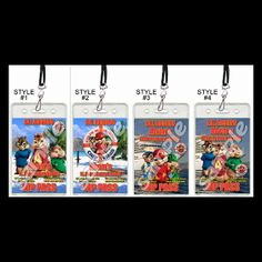 ALVIN AND THE CHIPMUNKS VIP PASSES WITH LANYARDS