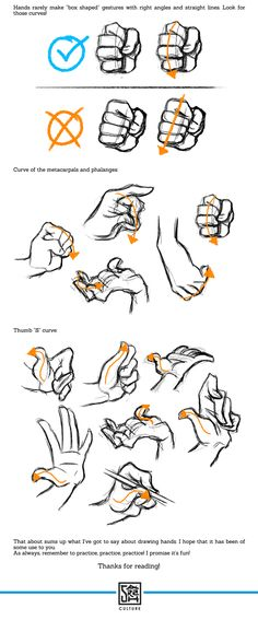 """sarahculture: """" Tips on Drawing Hands Tutorial Hope this is helpful! Twitter DeviantArt """" Hand Drawing Reference, Drawing Hands, Drawing Poses, Design Reference, Drawing Tips, Drawing Sketches, Sketching, Manga Drawing, Drawing Ideas"""