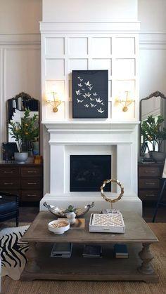 81 Awesome Farmhouse Fireplace Design Ideas To Beautify Your Living Room – Farmhouse Room Decor, Wooden Fireplace, Home, Fireplace Mantels, Stone Fireplace Mantel, Fireplace Design, Living Room With Fireplace, Fireplace Surrounds, Fireplace