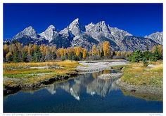 The Grand Tetons America: rocky, jagged, and abruptly rising seven thousand feet above the Snake River, piedmont lakes, and the sagebrush-covered valley of Jackson Hole
