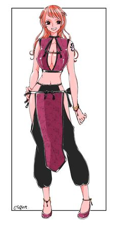 Nami One piece girls Manga Anime, Anime Art, Female Character Design, Character Concept, Redhead Characters, Luffy X Nami, Zoro, Nami Swan, Sanji One Piece