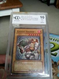 yu-gi-oh card in plastic case