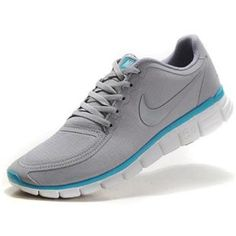new concept 17eed ea970 ... Mens Nike Free 5.0 V4 Grey Sky Blue Running Shoes ...