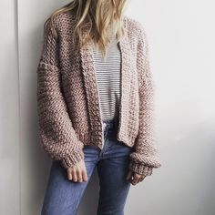 Excellent Image of Sweater Knitting Patterns Sweater Knitting Patterns Bomber Cardigan Pdf Knitting Pattern Wool Couture Diy Knitting Kit, Jumper Knitting Pattern, Chunky Knitting Patterns, Easy Knitting, Knit Patterns, Jumper Patterns, Knitting Ideas, Knitting Needles, Chunky Knit Cardigan