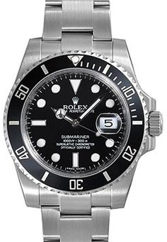 Rolex Submariner FECHA esfera negra bisel de cerámica de los hombres de la reloj 116610LN: Rolex: Amazon.es: Relojes