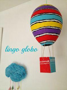 Handmade balloon. Craft balloon.