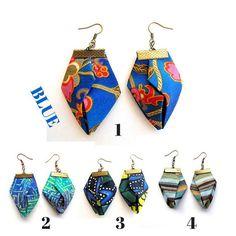 Origami Fiber Earringsorigami earrings Fiber origami by Gilgulim