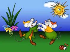 peter cottontail song with video of various carton pics from disney, warner brothers...