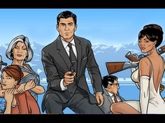 Pick up the Archer: Season 1 and Archer: Season 2 for $17 and $20, respectively.  Your guy will love it and you for it.