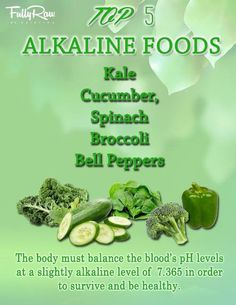 """rawlivingfoods:  """"GREEN IS GOOD! Did you know that disease cannot exist in an alkaline state? Raw fruits and veggies are the most alkalizing..."""