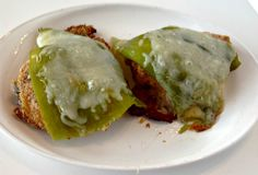 This delicious chicken dish made with all the elements of a chile relleno but baked so they are healthy and don't mess up the kitchen!