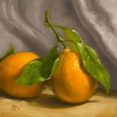"Daily+Paintworks+-+""Meyer+Lemon++Duo""+-+Original+Fine+Art+for+Sale+-+©+Dave++Capalungan"